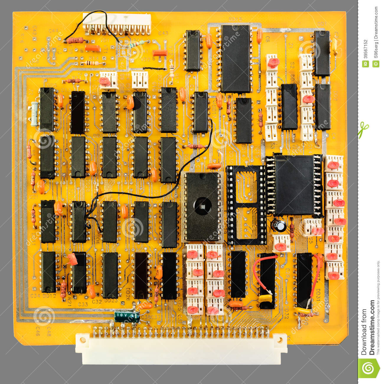 Printed Circuit Board Stock Photo Image Of 39567152 Stockfoto Pcb Used In Industrial Electronic Download