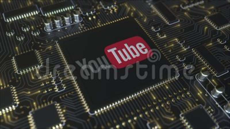 Computer Printed Circuit Board Or PCB With YouTube, LLC Logo ...