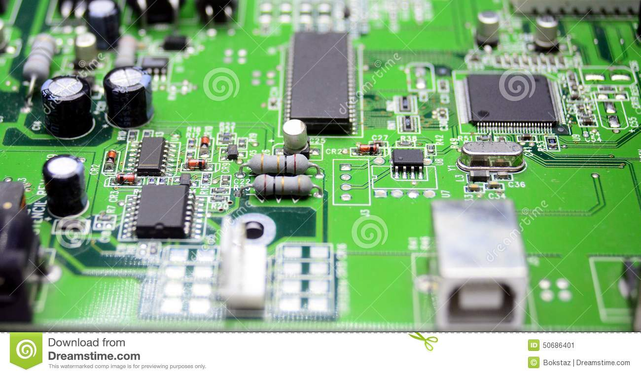 Printed Circuit Board With Radio Parts Stock Image Of What Are The A