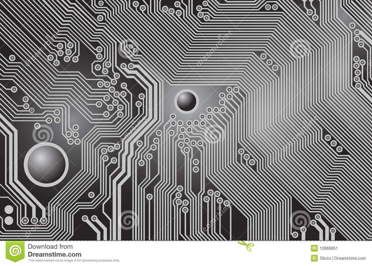 Printed Circuit - Motherboard Stock Vector - Illustration of ...