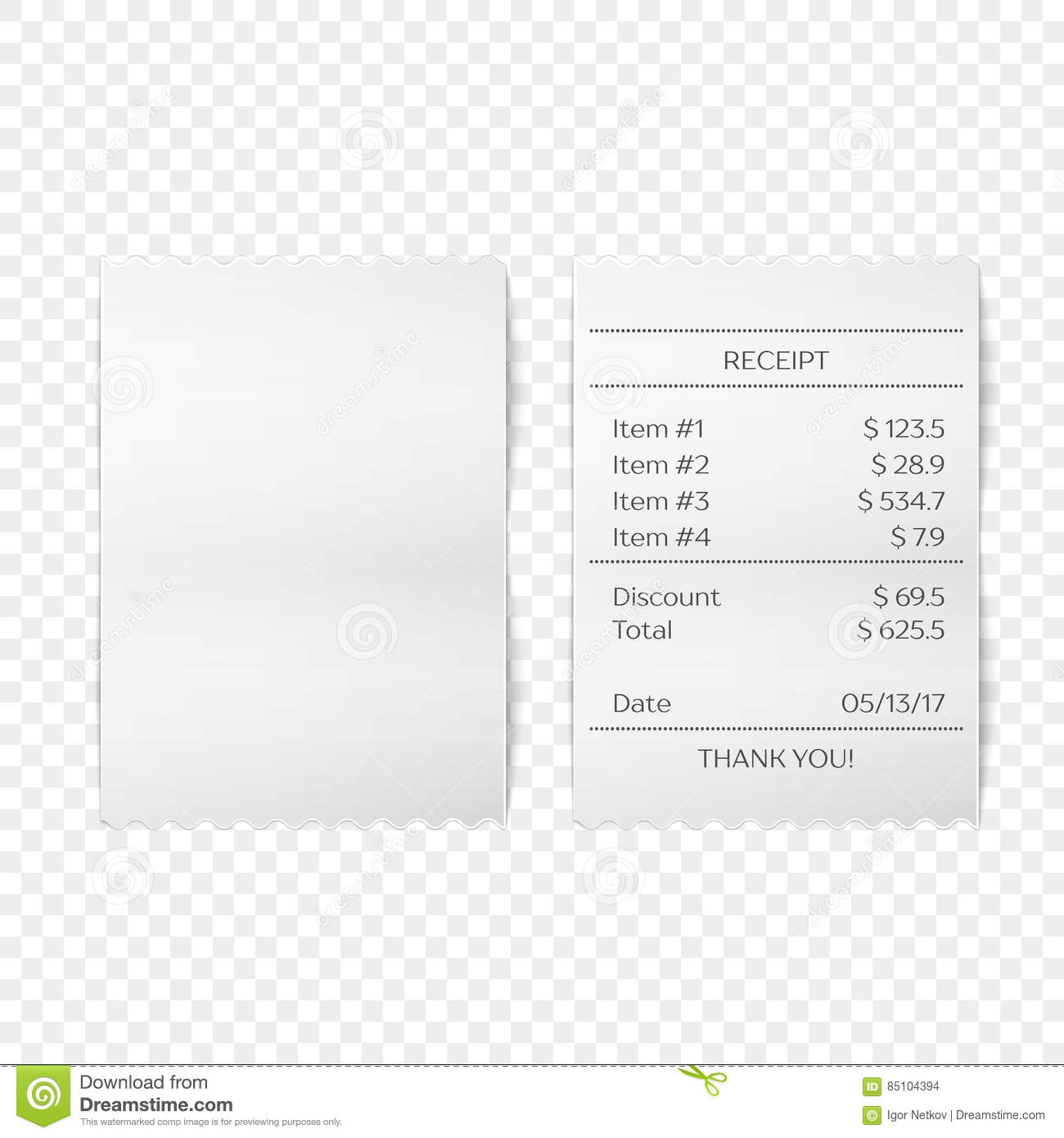 Printed Receipt Vector Stock Vector Illustration Of Payment