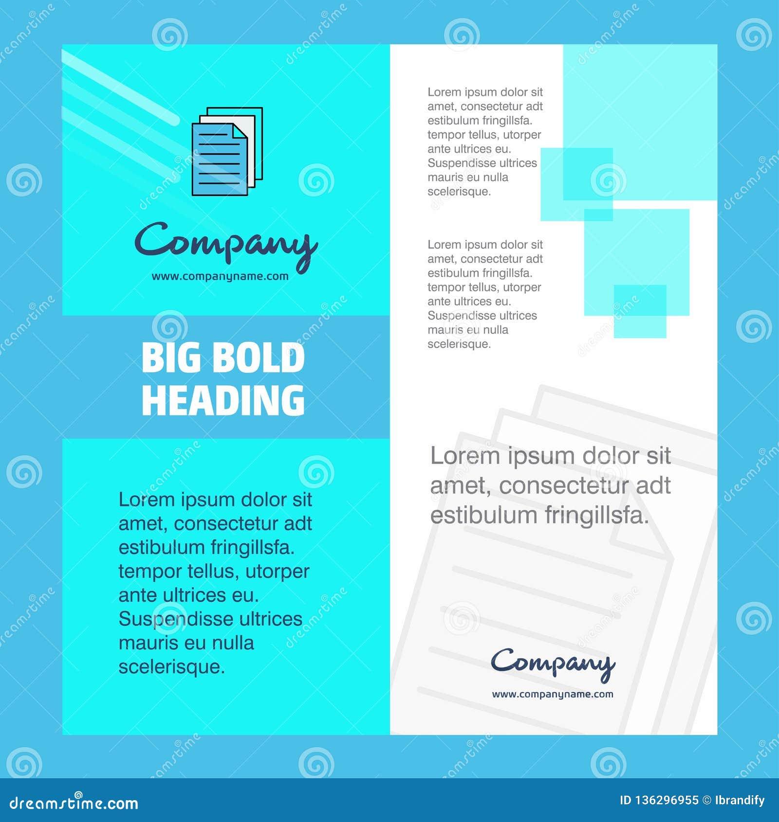 Printer Company Brochure Title Page Design Company Profile