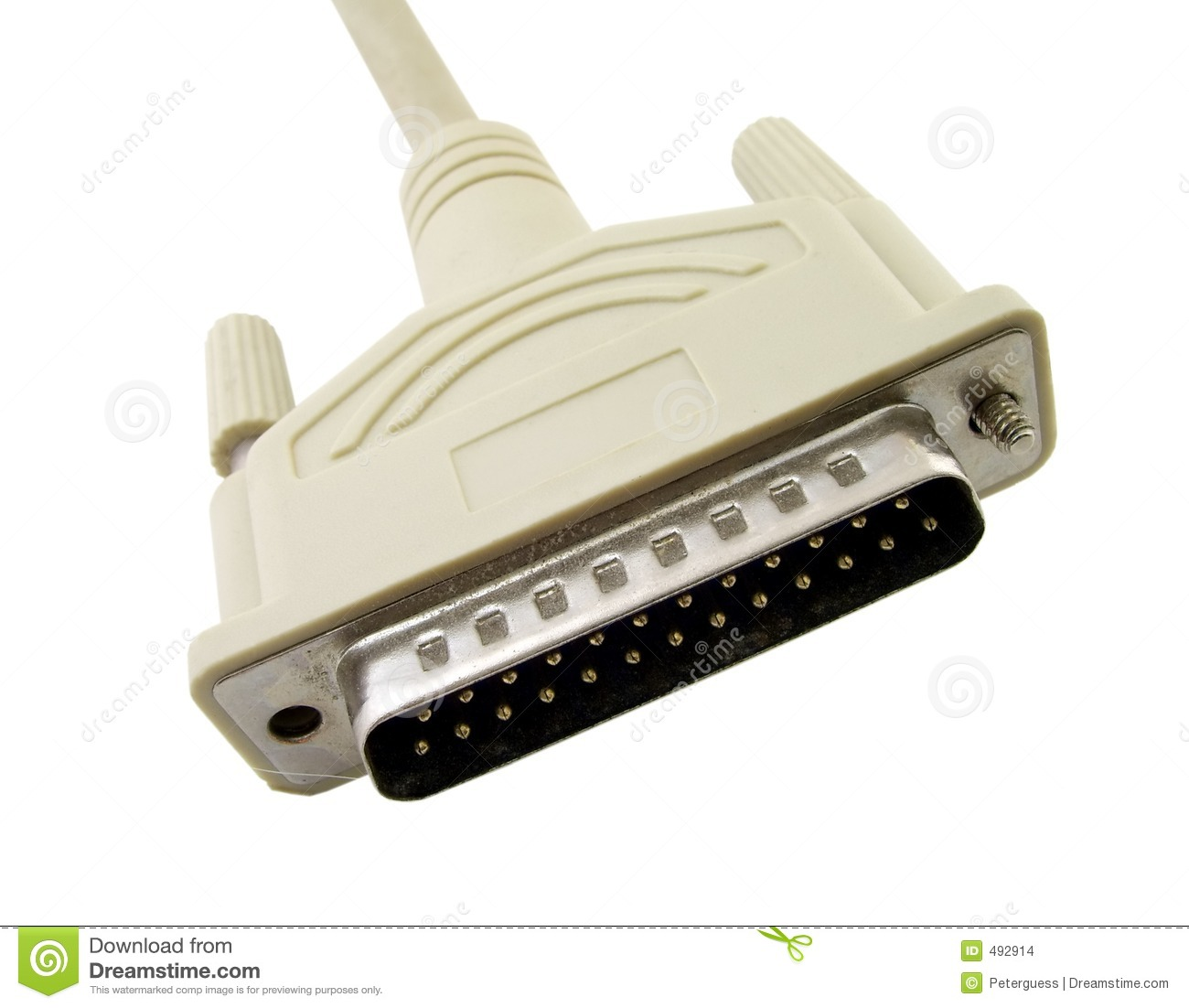 Printer Connector Male Stock Images Image 492914
