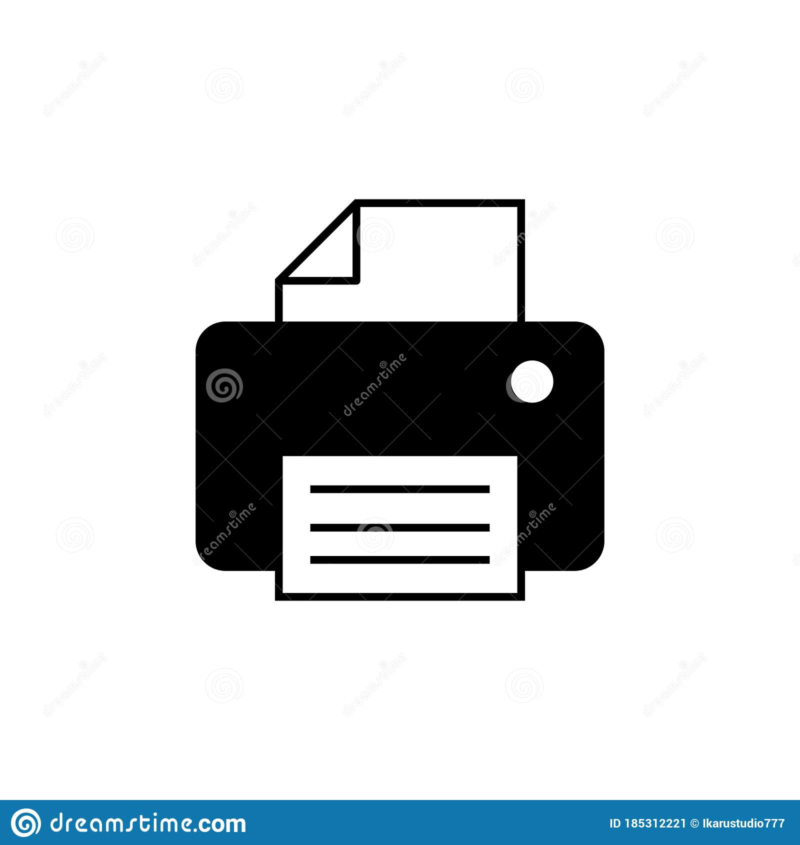 printer icon isolated on white background print icon fax vector icon stock vector illustration of paper communication 185312221 printer icon isolated on white background print icon fax vector icon stock vector illustration of paper communication 185312221