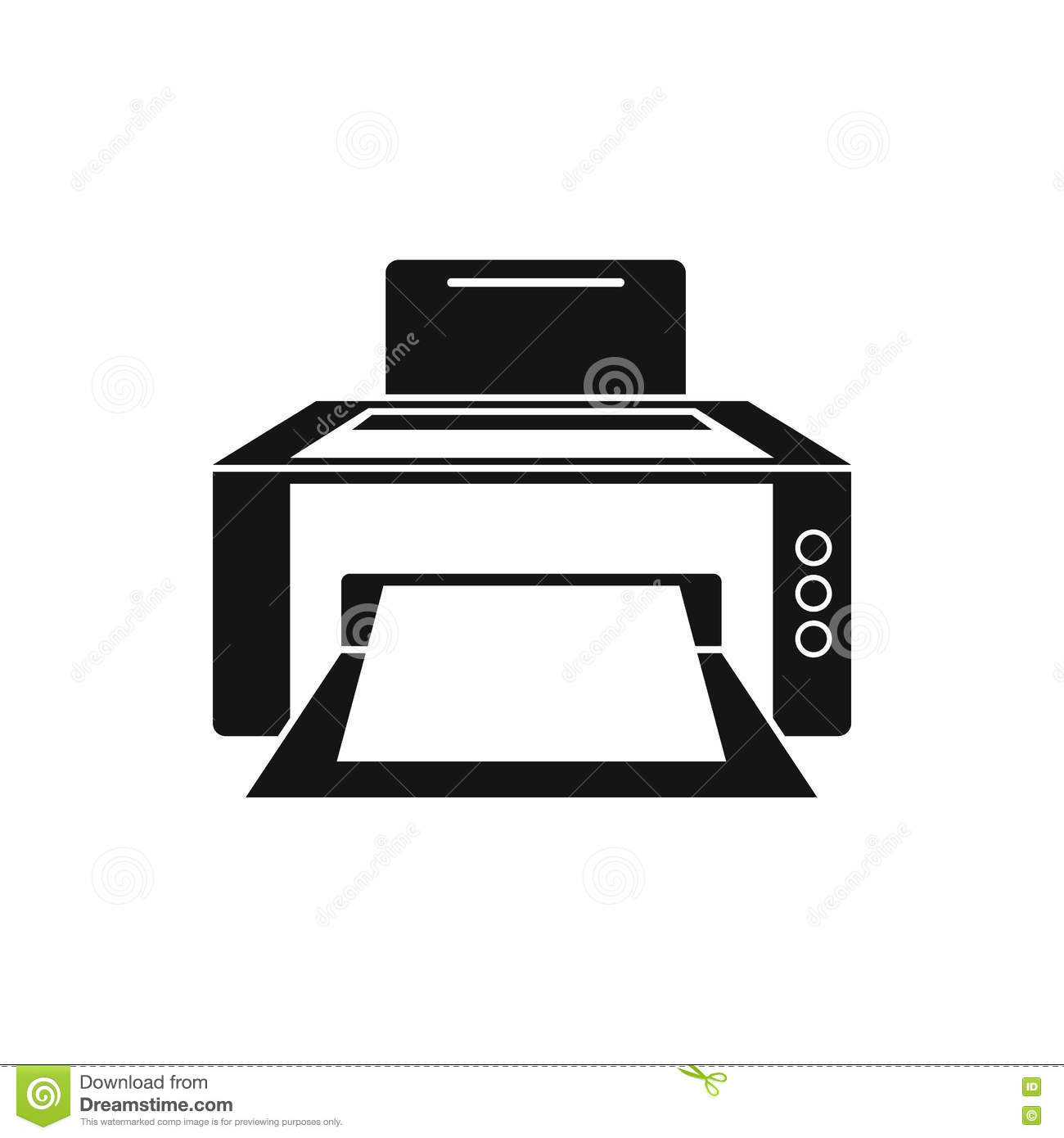 Printer Icon In Simple Style Stock Vector - Image: 78679645