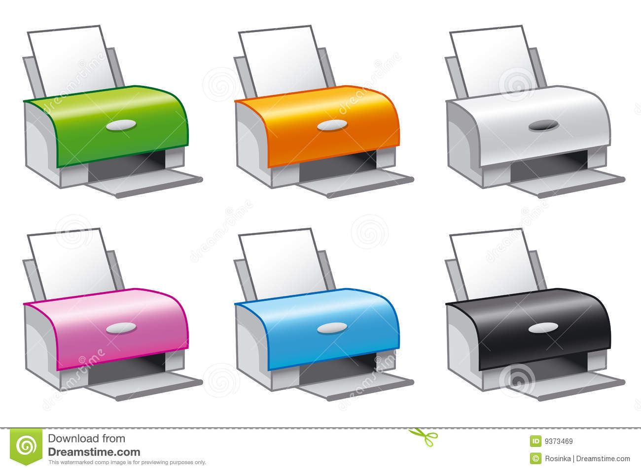 Printer Icons Royalty Free Stock Images Image 9373469
