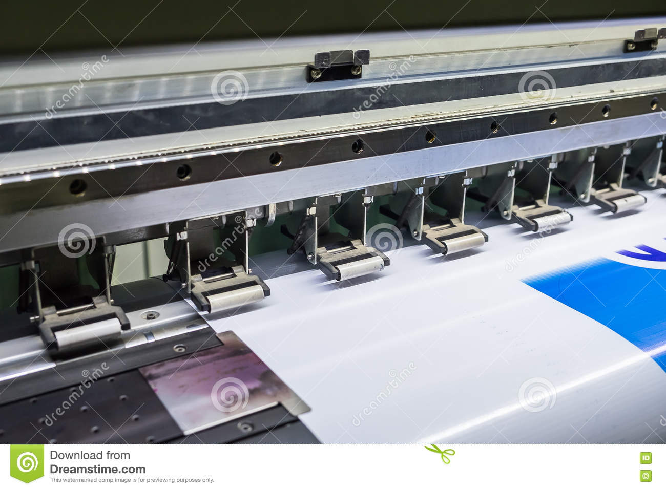 Printer Inkjet Device Machine Running Motion Vinyl Stock Photo