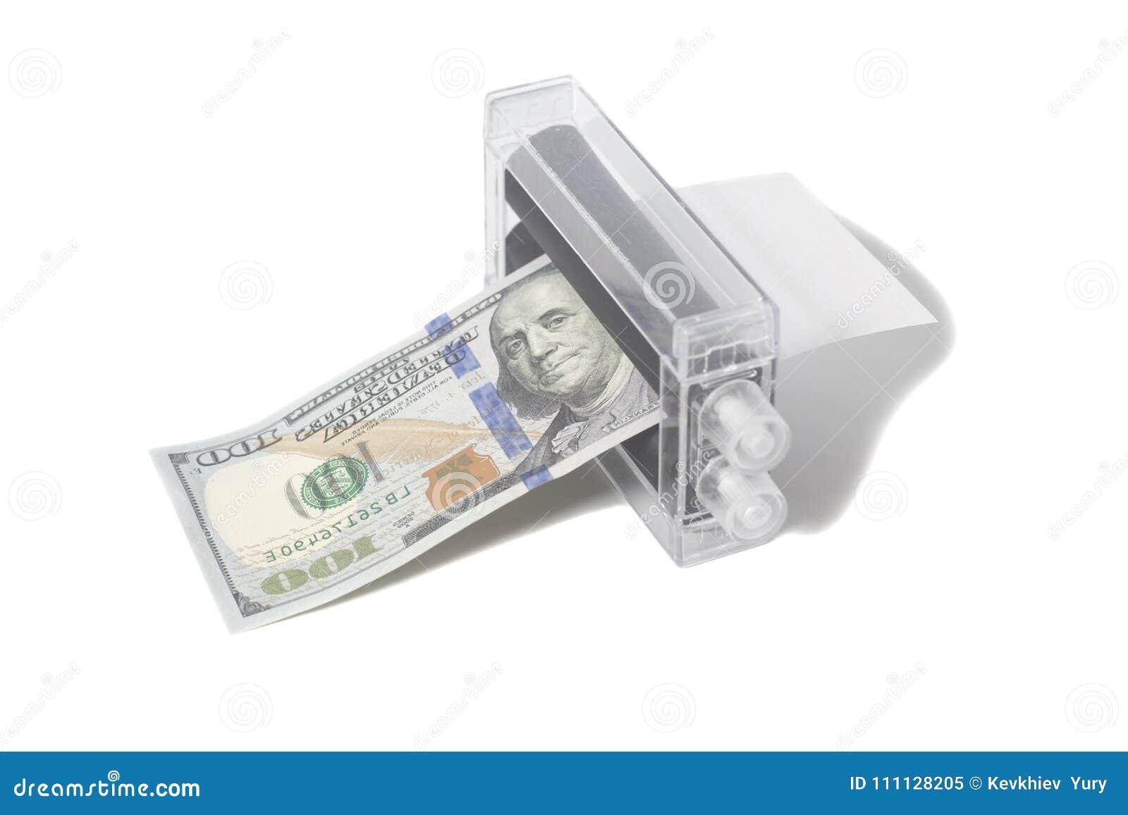 Printer Money Machine Printing Fake Dollar Stock Image