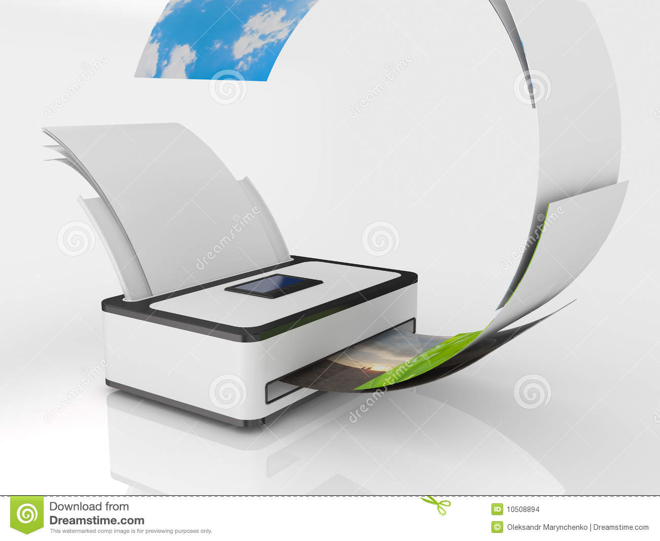 Printer With Paper Stock Images