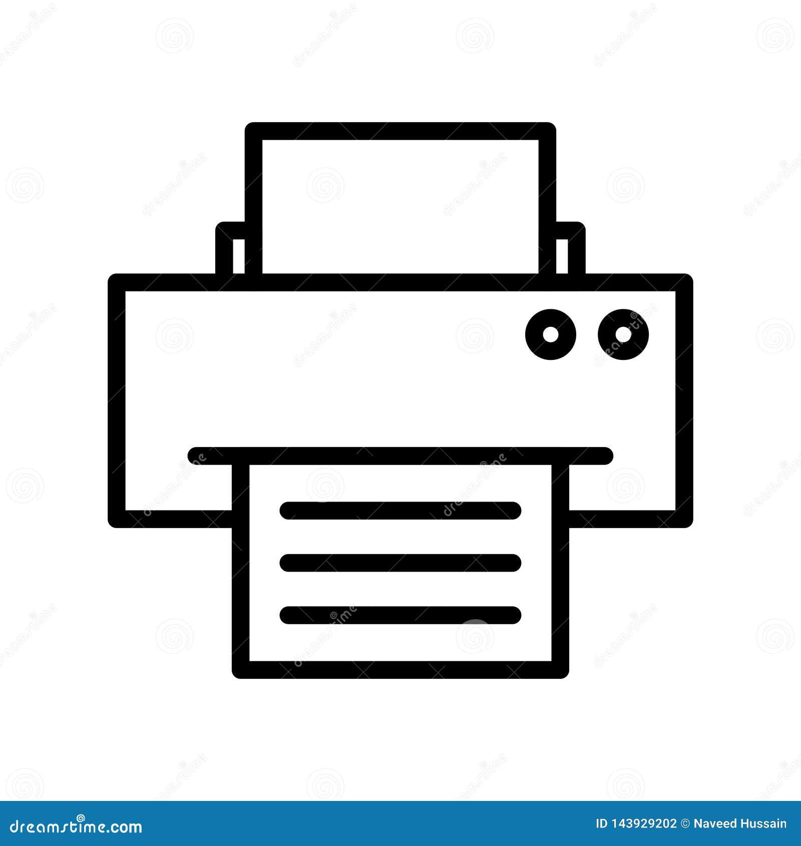 printer thin line vector icon stock vector illustration of graphic icon 143929202 dreamstime com