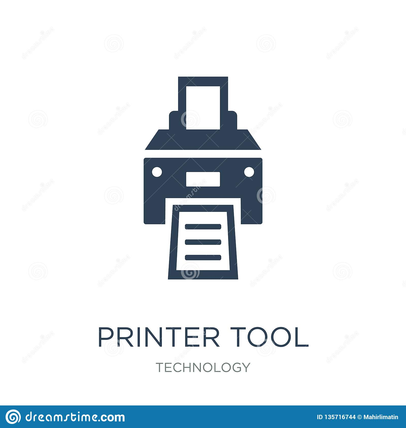 printer tool icon in trendy design style. printer tool icon isolated on white background. printer tool vector icon simple and
