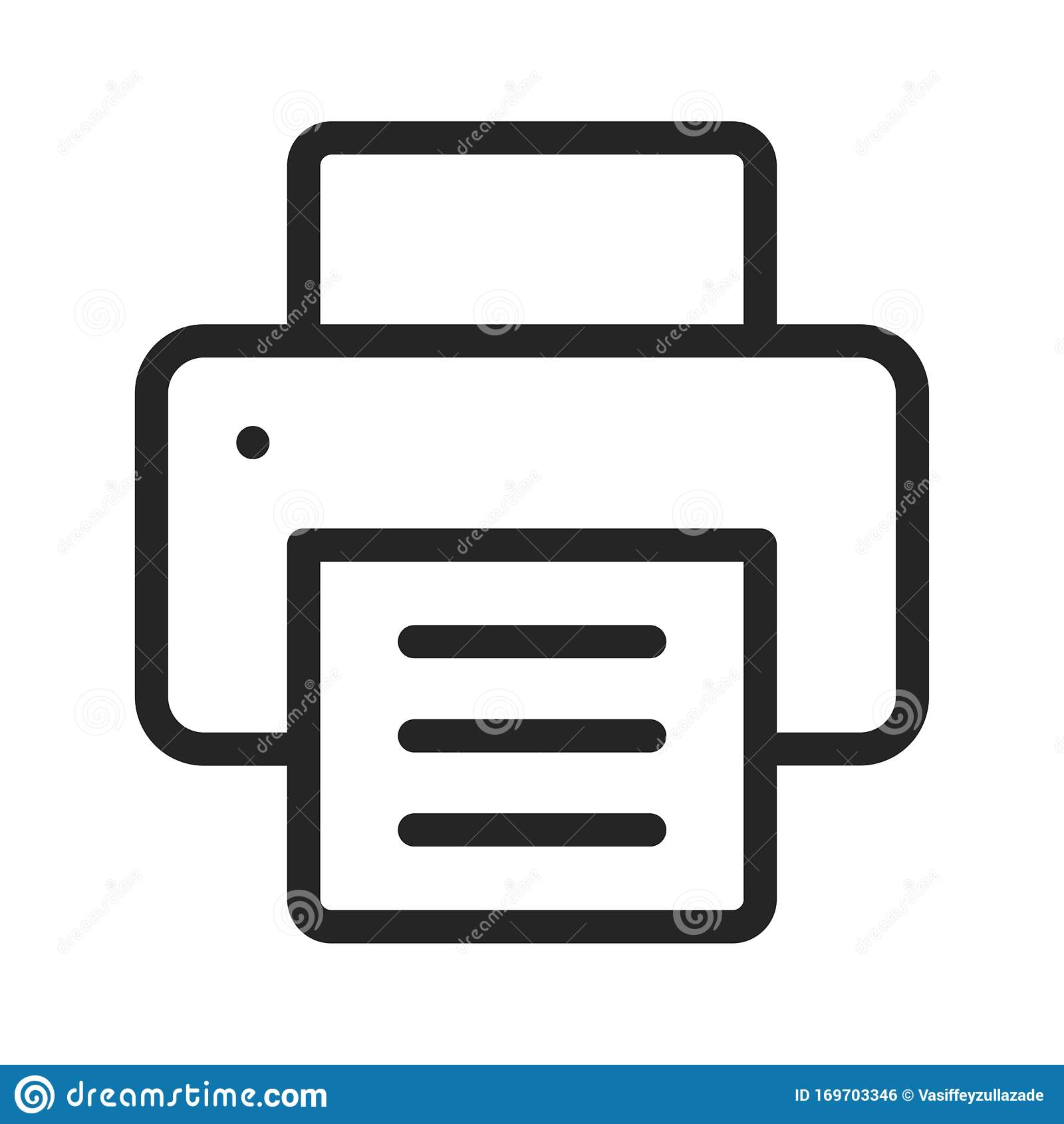 printer vector icon in modern design style for web site and mobile app stock vector illustration of black modern 169703346 dreamstime com