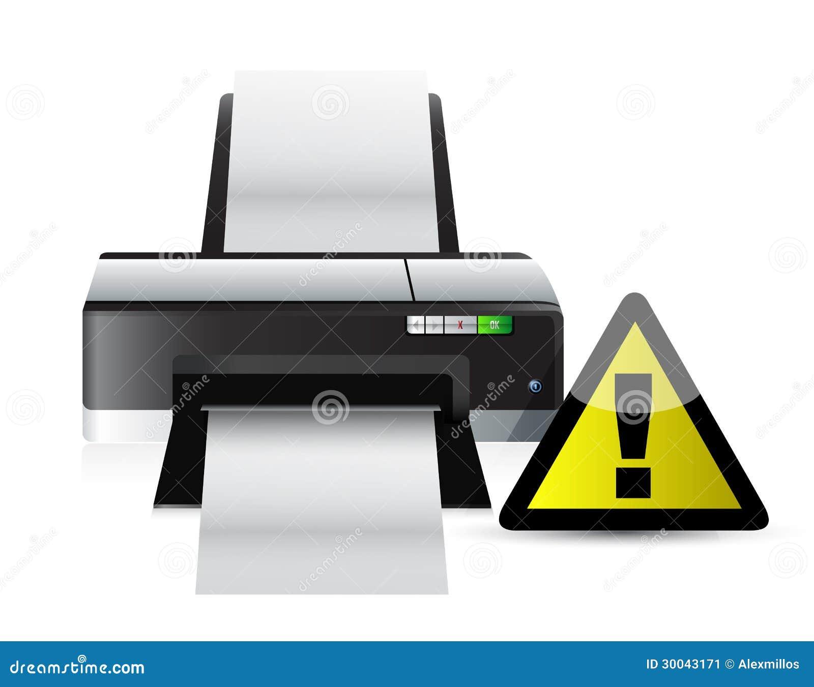 Download Printer Warning Sign Concept Stock Illustration - Illustration of contemporary, multi: 30043171
