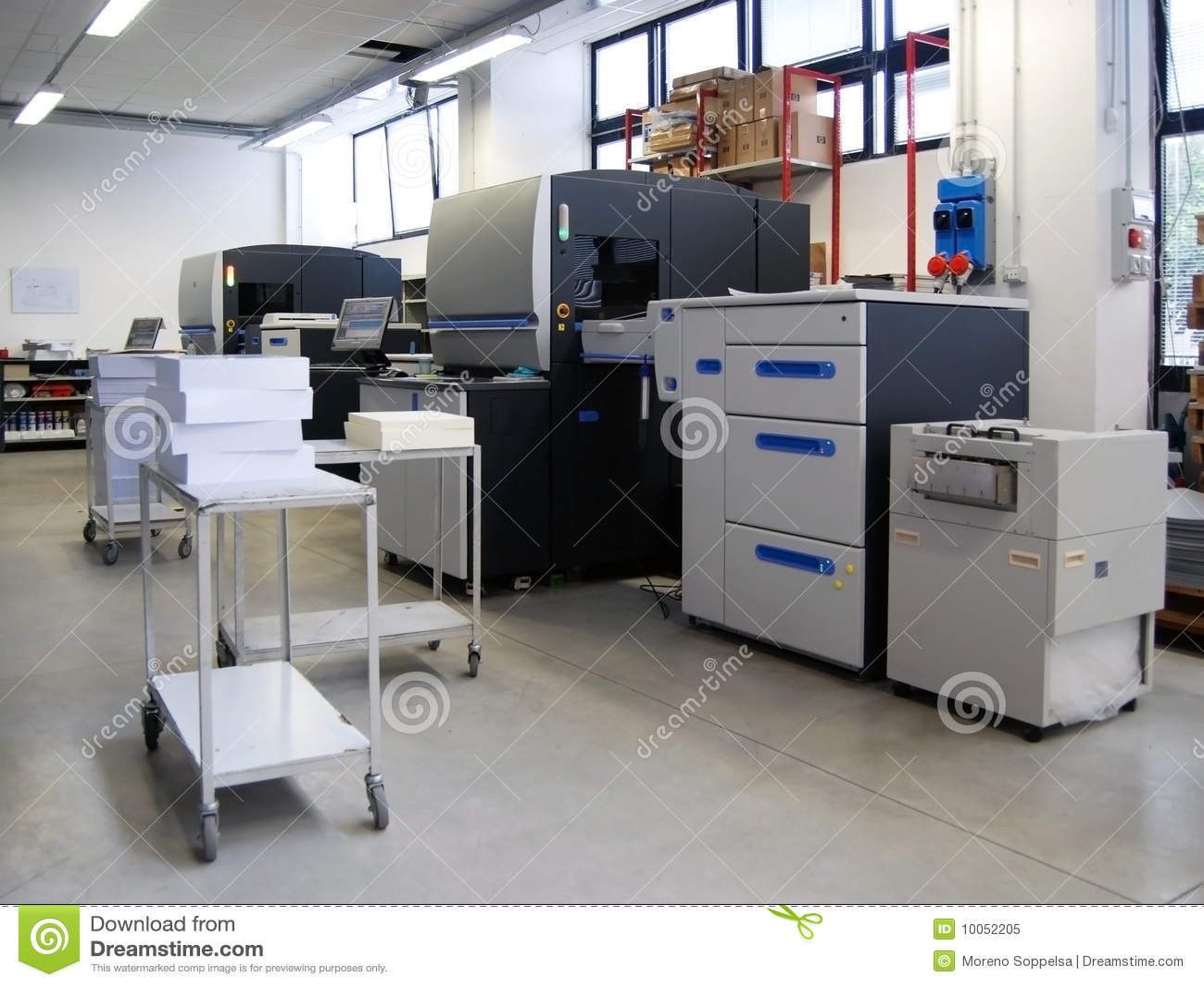 Printing för press för fyra förskjutning för färg digital