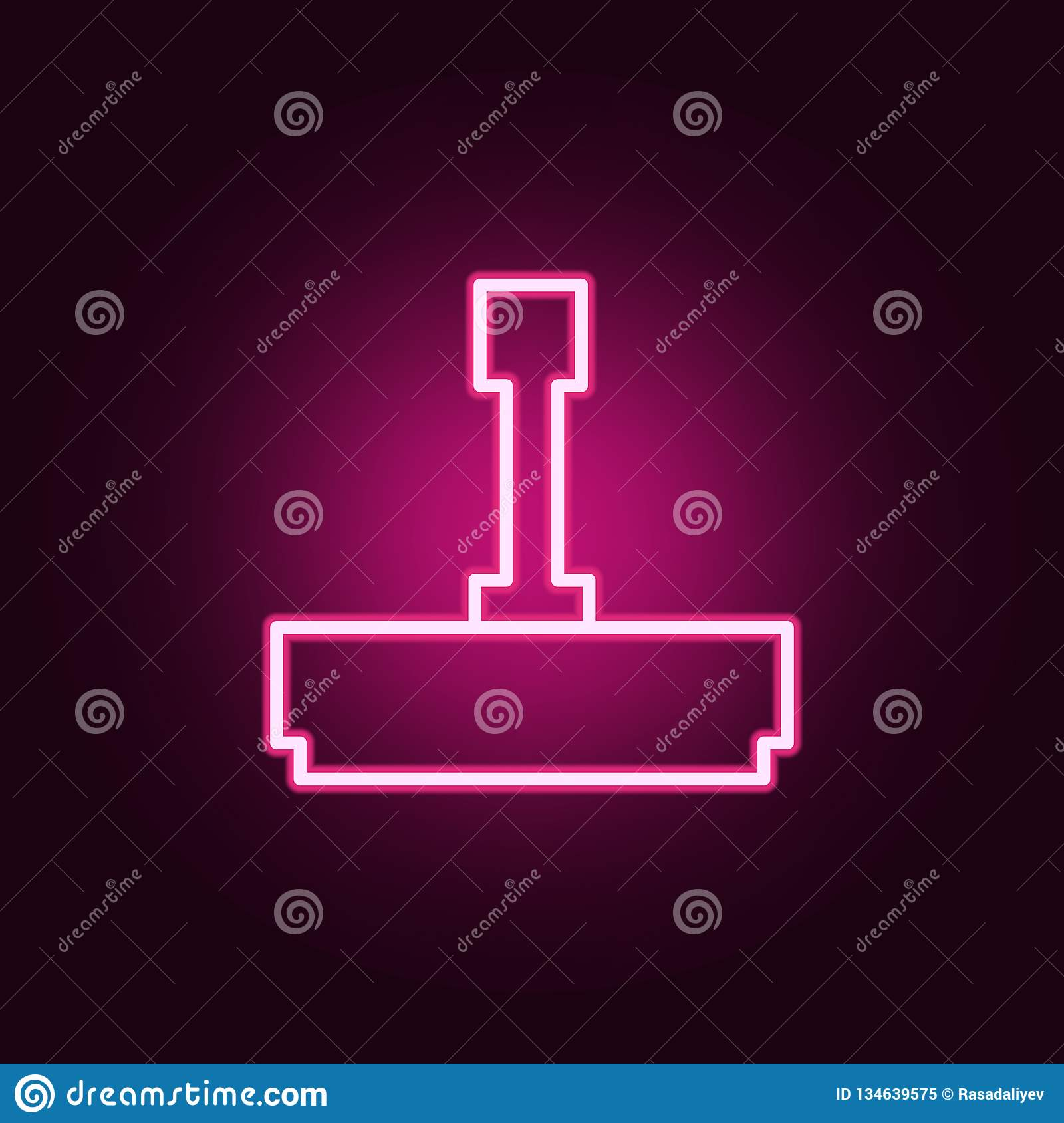Printing Icon  Elements Of Web In Neon Style Icons  Simple