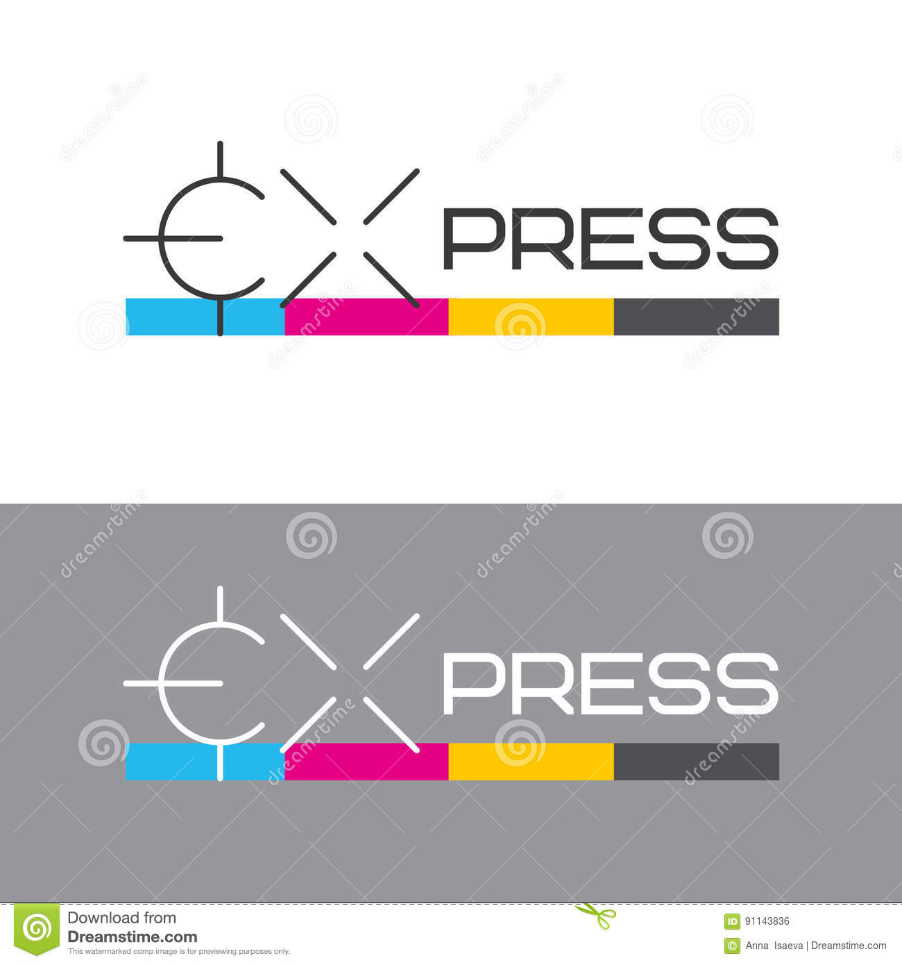 Printing Labels And CMYK Scale. Printing Services, Express Print ...