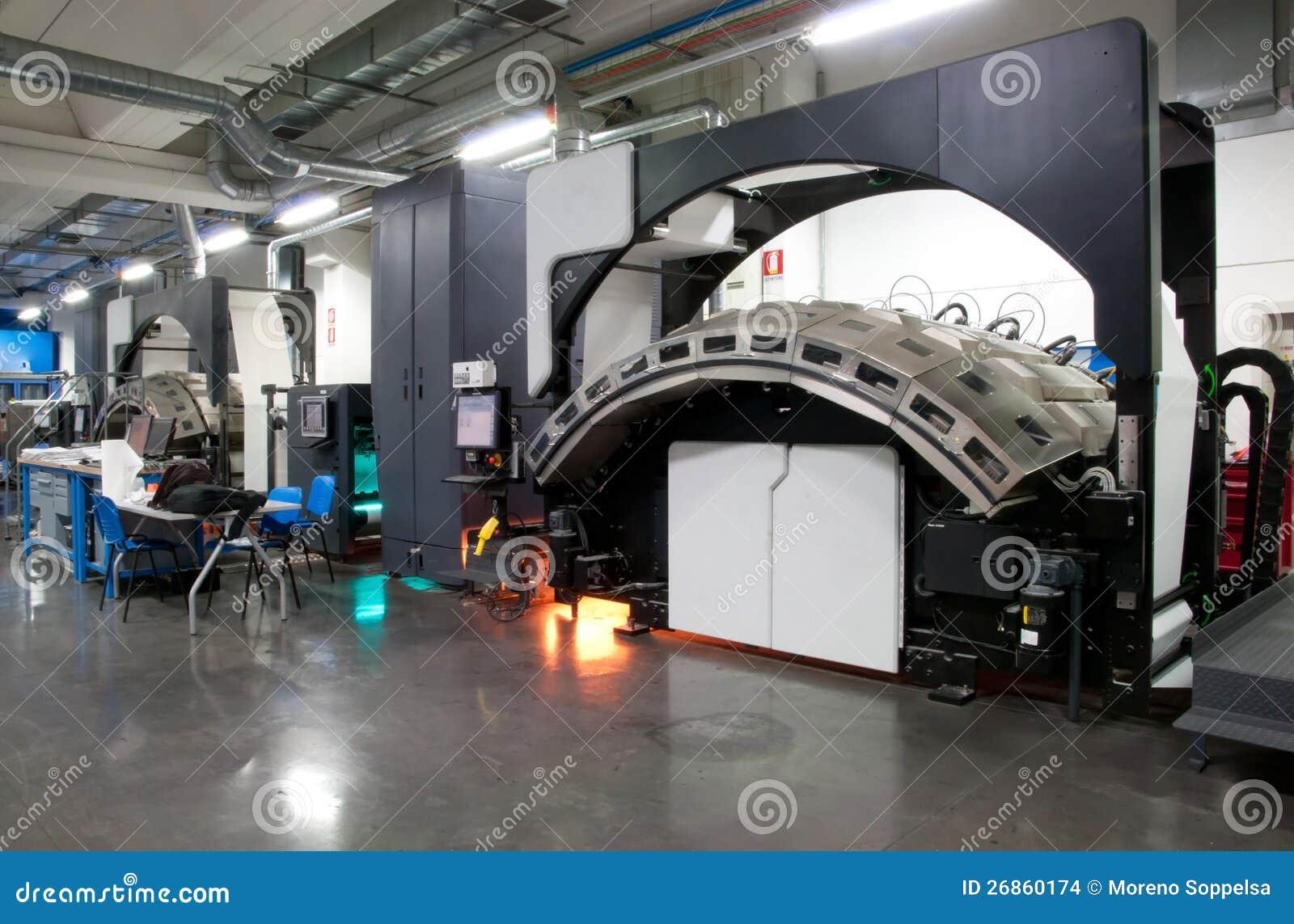 Printing Machine: Digital Web Press Stock Photo - Image of magazine