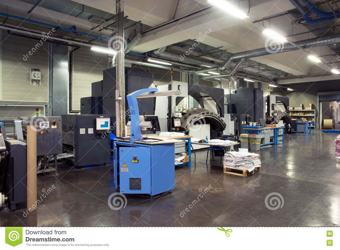 Printing Machine: Digital Web Press Stock Photo - Image of digital