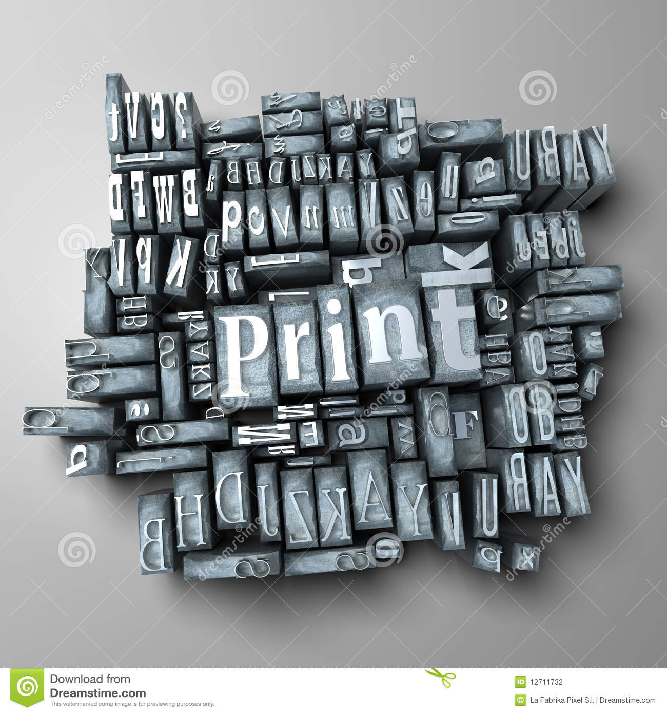 Printing Press Stock Photography Image 12711732