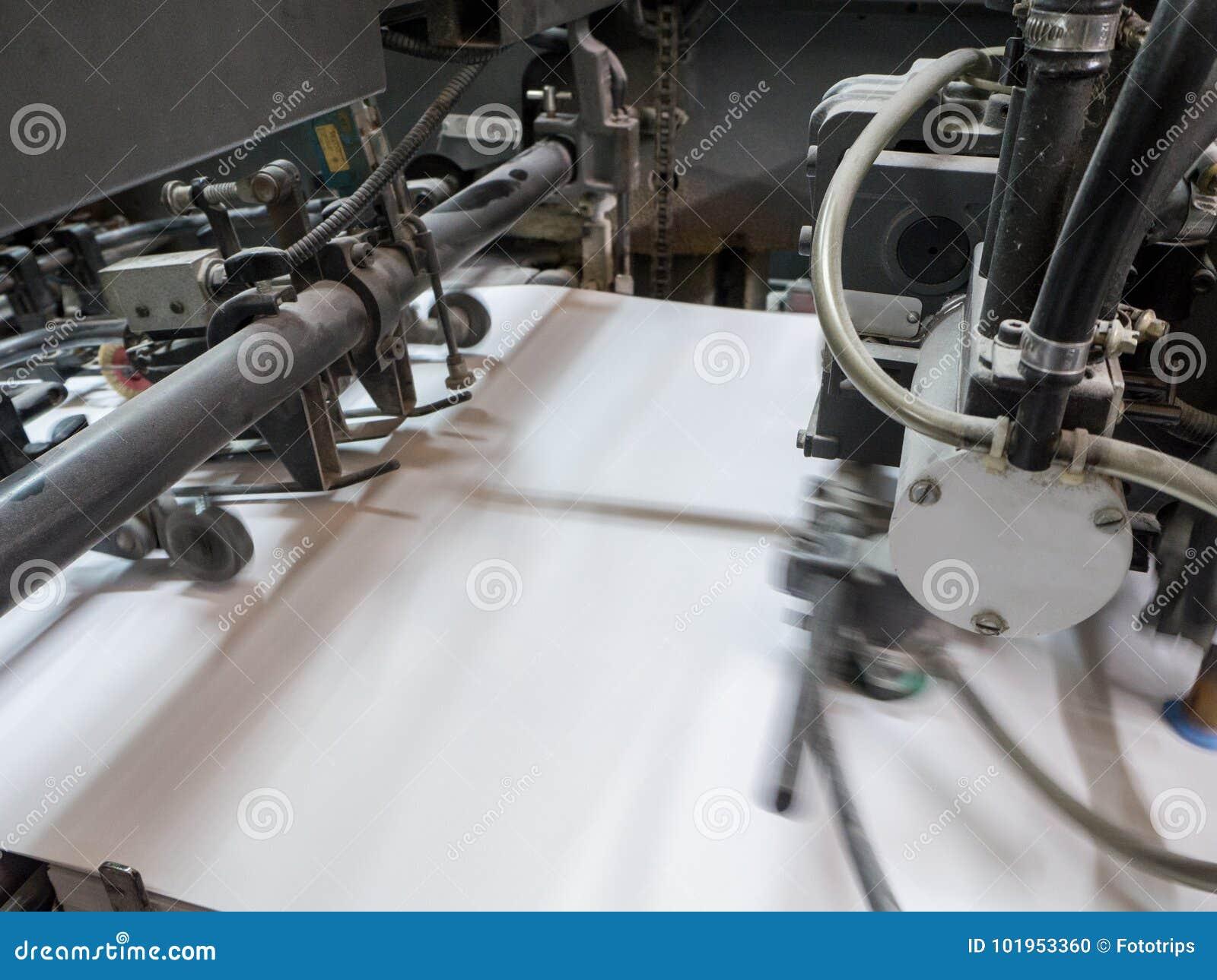 Printing Press Machine In A Modern House