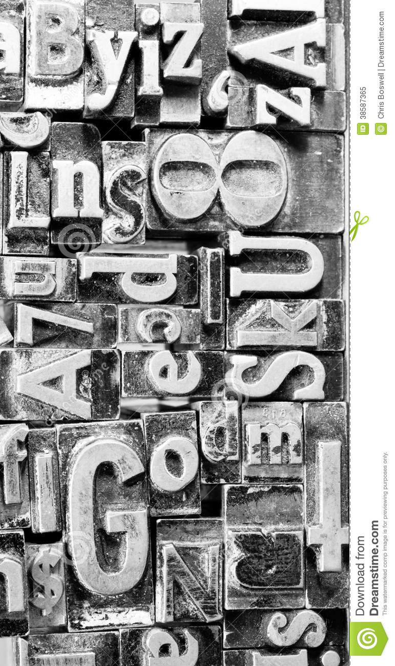 printing press typeset typography text letters