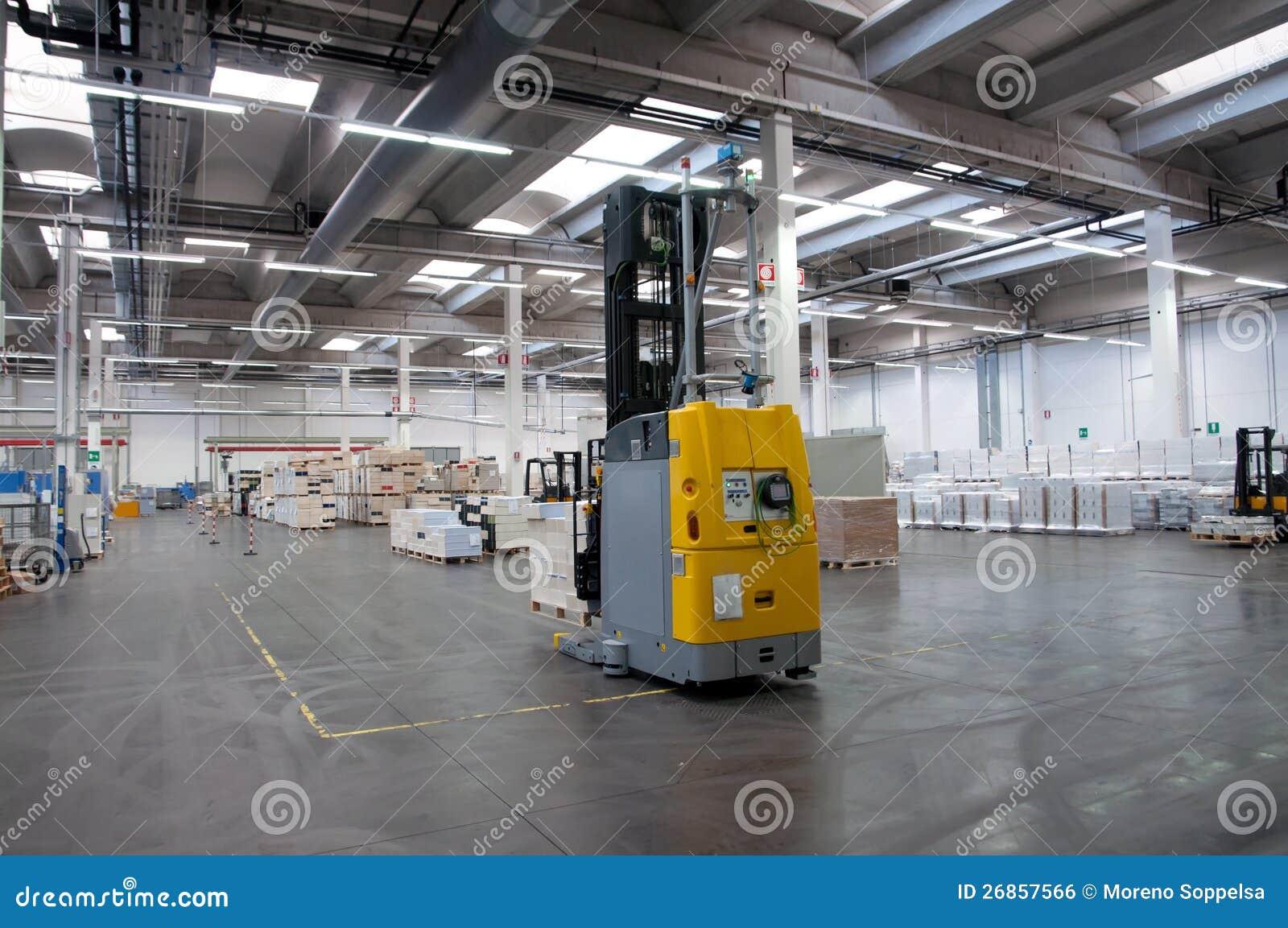 Printshop: Automated Warehouse (paper) Stock Photo - Image