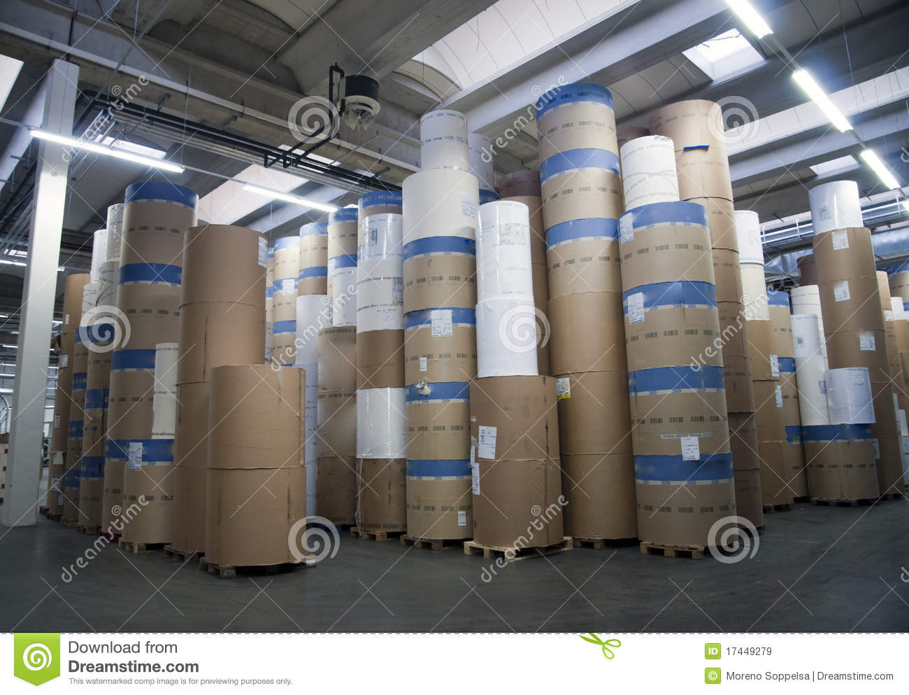 Warehouse manufacturing paper