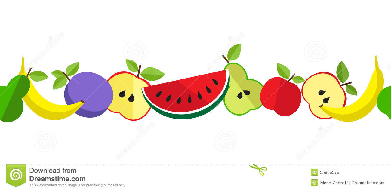 Line Art Fruits : Printtasty fruit pattern in line stock vector