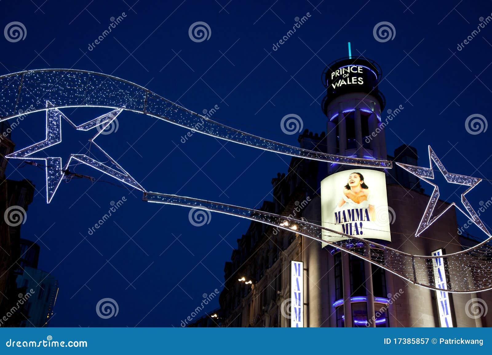 Prinzen Des Wales-Theaters Im Weihnachten London Redaktionelles ...