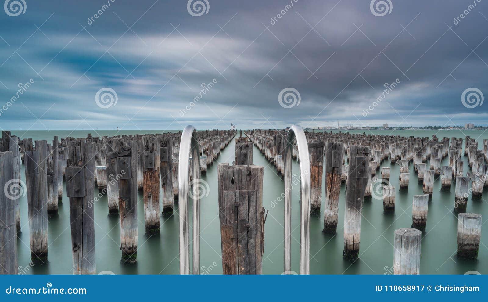 Prinzen Pier im Hafen Melbourne, Australien