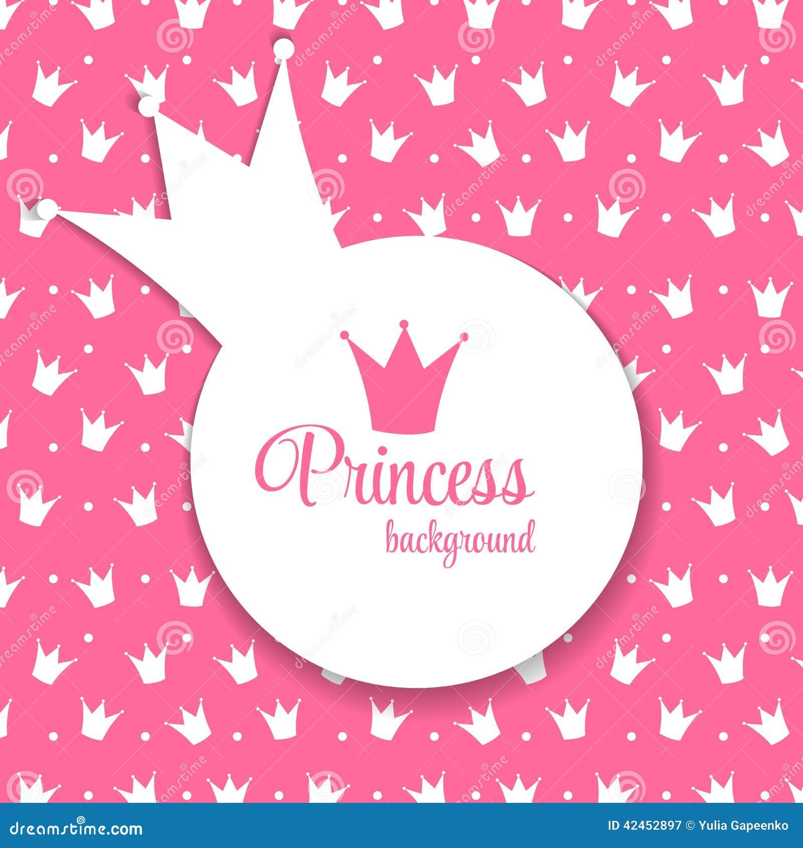 Prinzessin Crown Background Vector Illustration