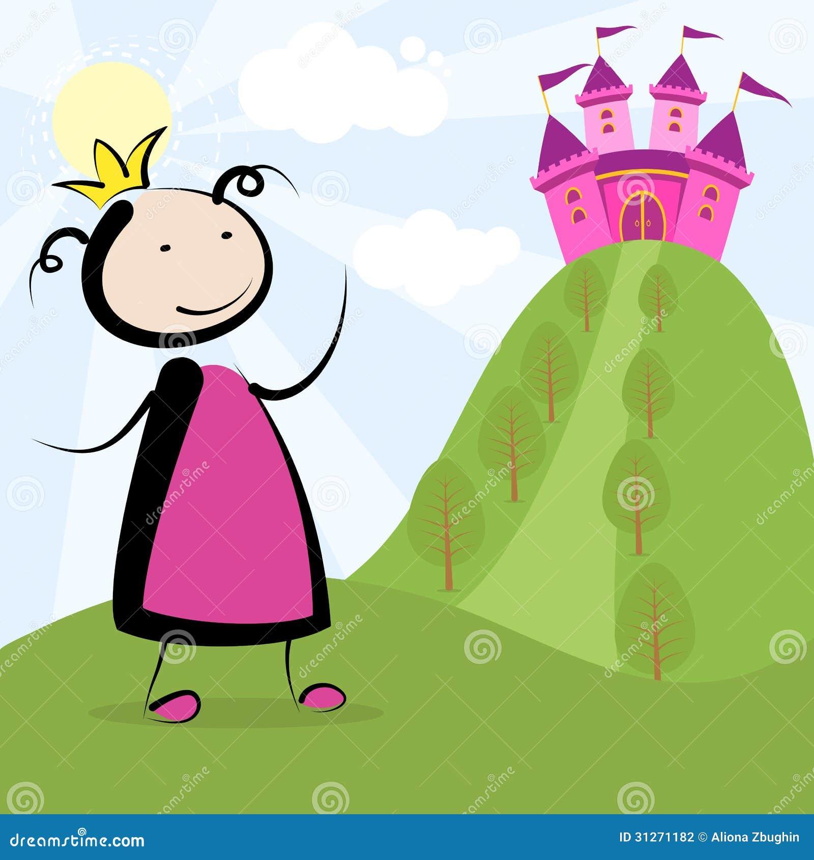Prinzessin und Schloss