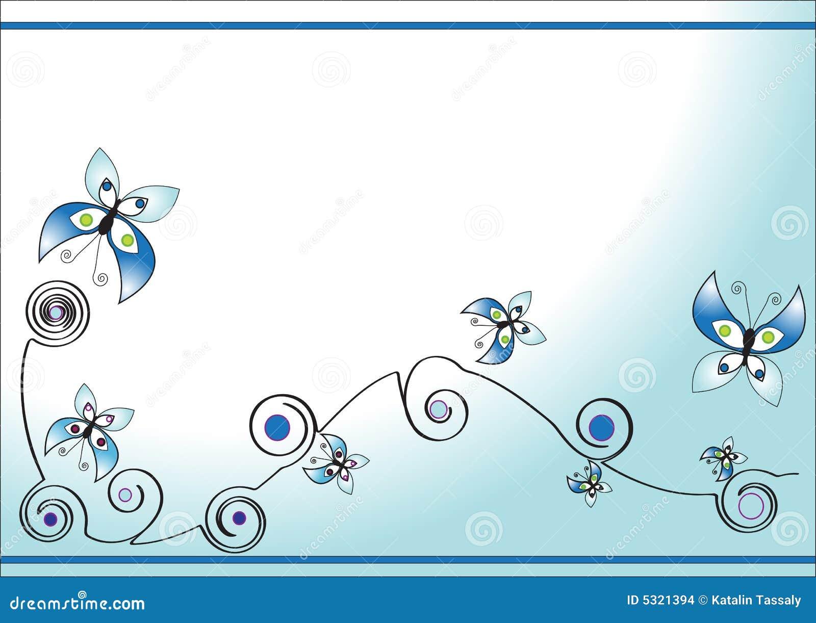 Download Priorità Bassa Astratta Con La Farfalla Illustrazione di Stock - Illustrazione di volo, bellezza: 5321394