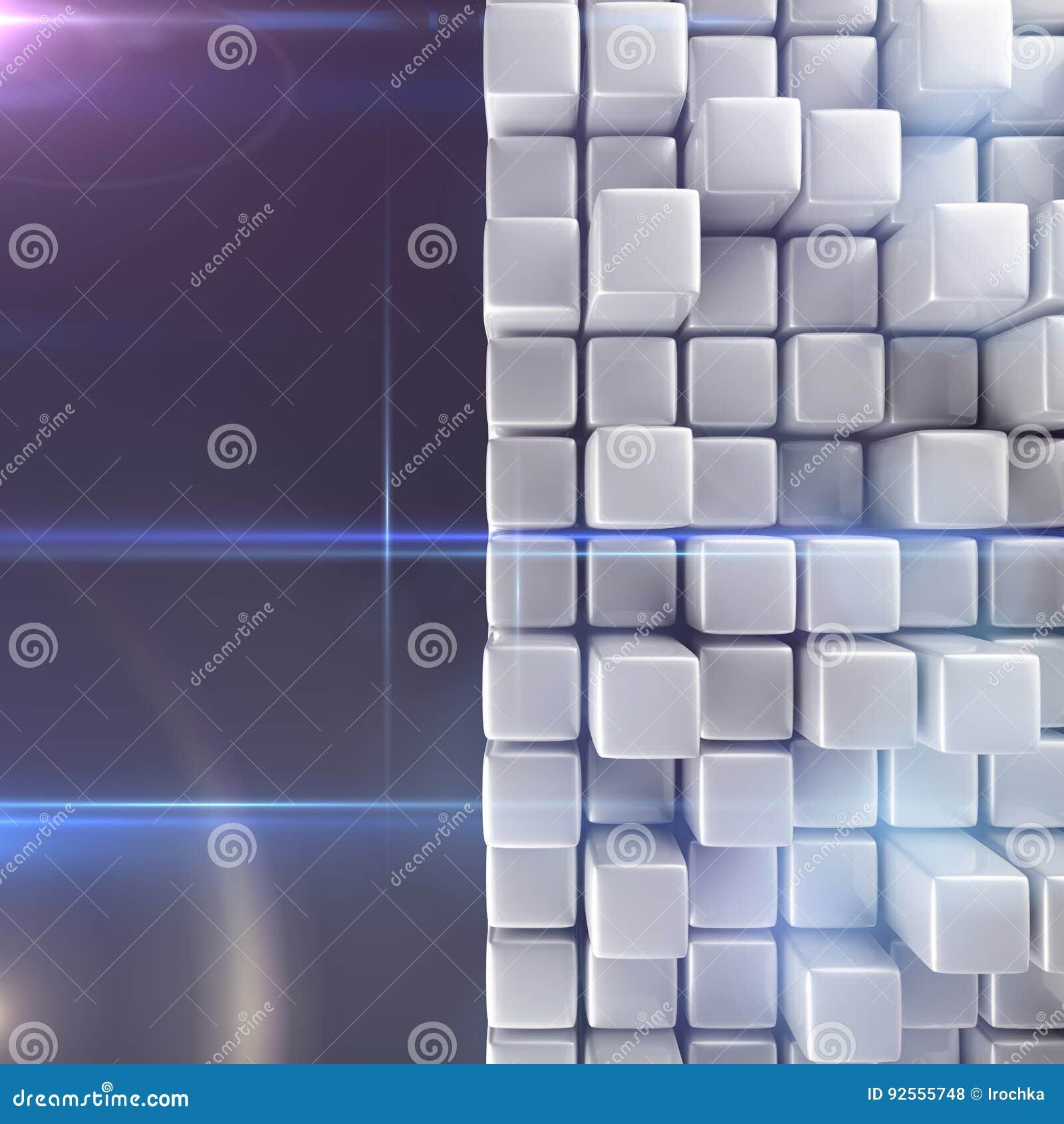 Priorità bassa astratta dei cubi