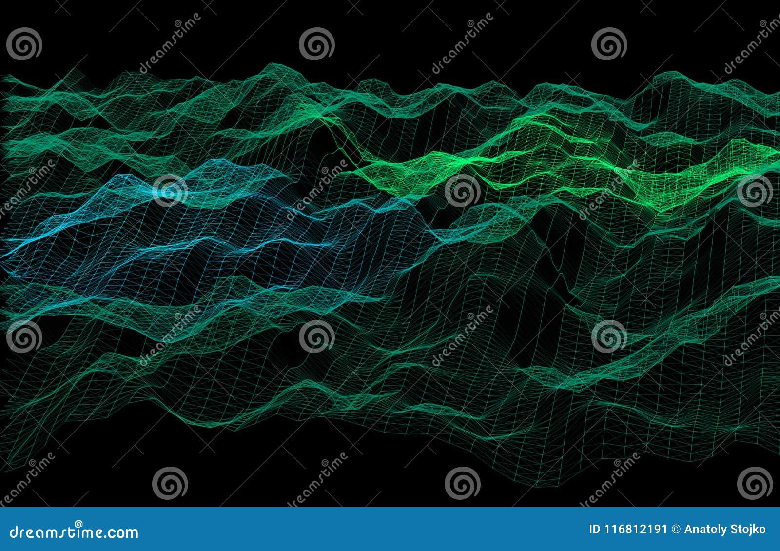 Priorità bassa astratta di griglia Struttura ondulata con le linee Illu di vettore