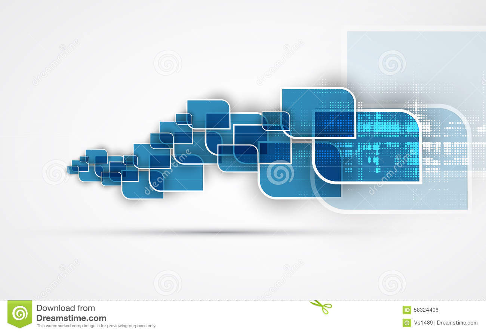 Priorità bassa astratta di tecnologia Interfaccia futuristica di tecnologia