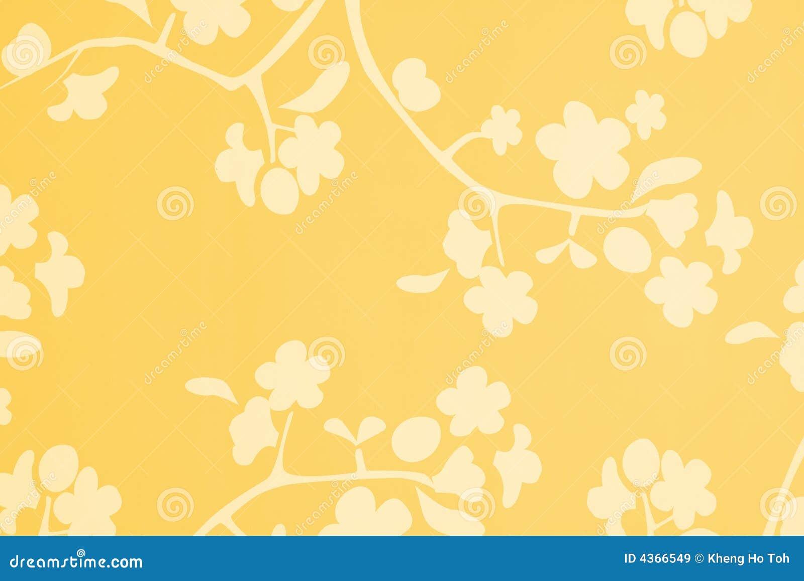 Priorità bassa bianca del fiore di colore giallo arancione