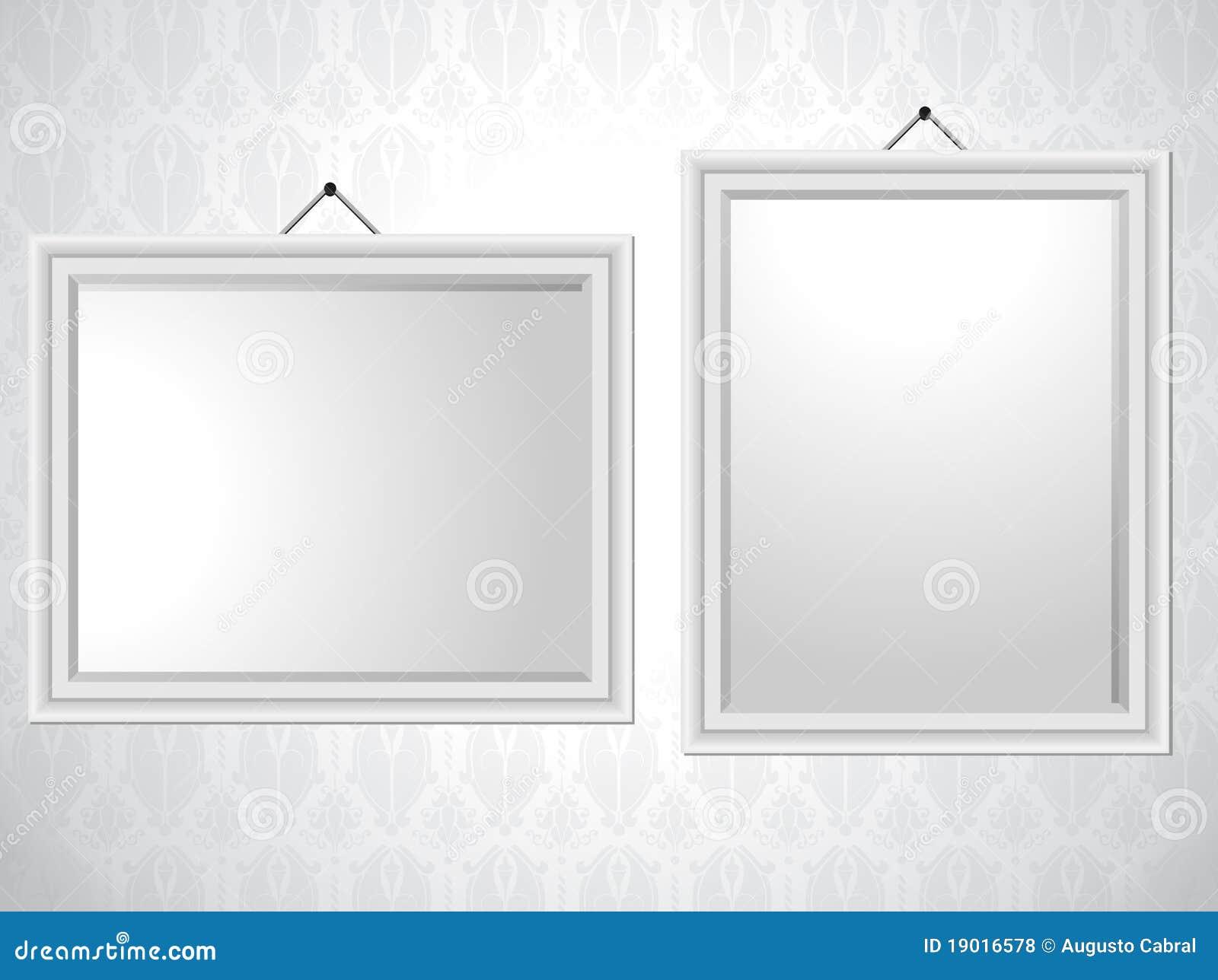 Priorit bassa bianca delle cornici fotografie stock for Cornici bianche