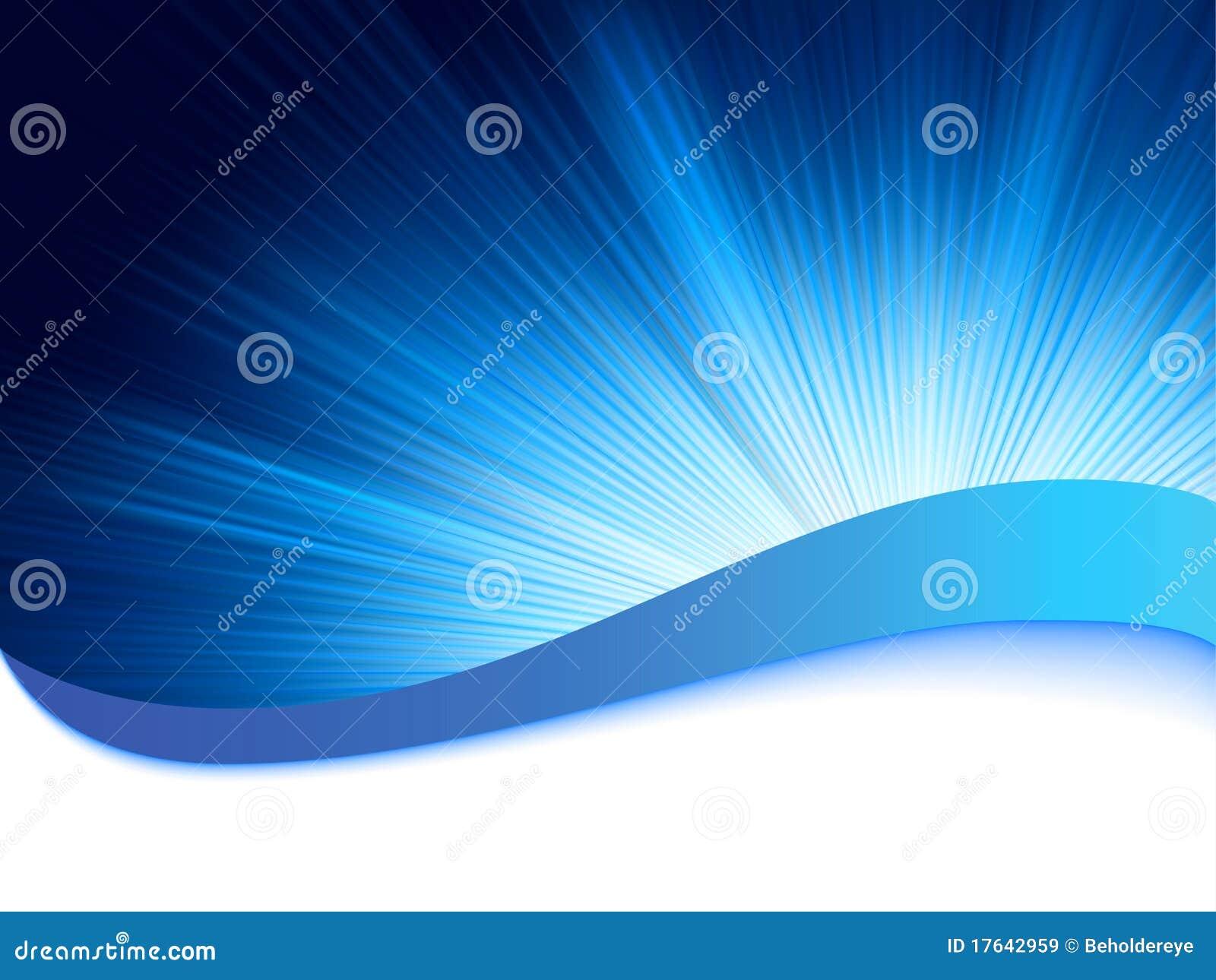Priorità bassa blu con i raggi di burst. ENV 8