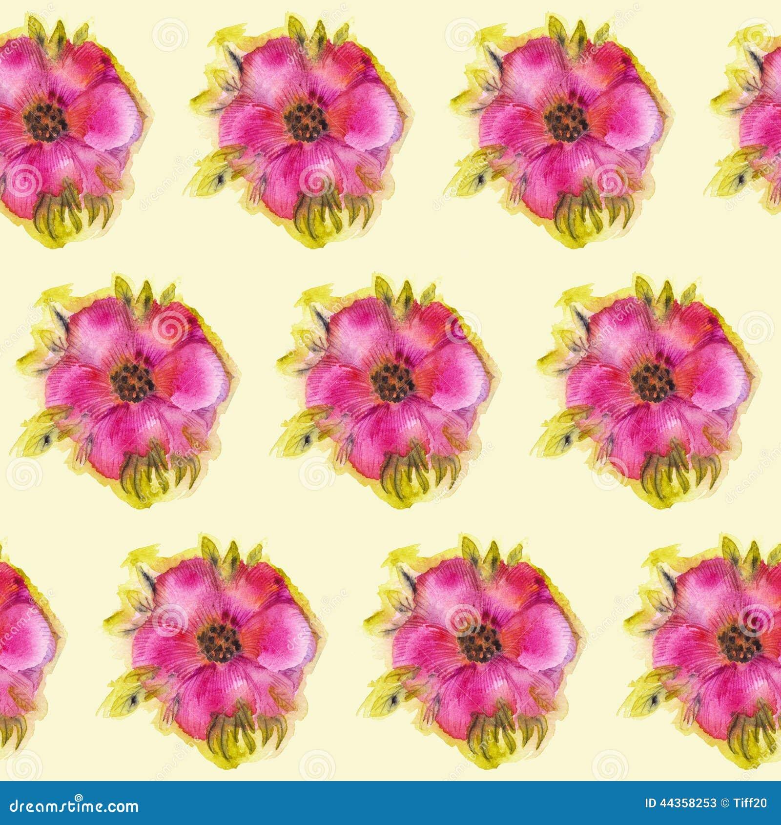 Priorità bassa con i fiori dell acquerello