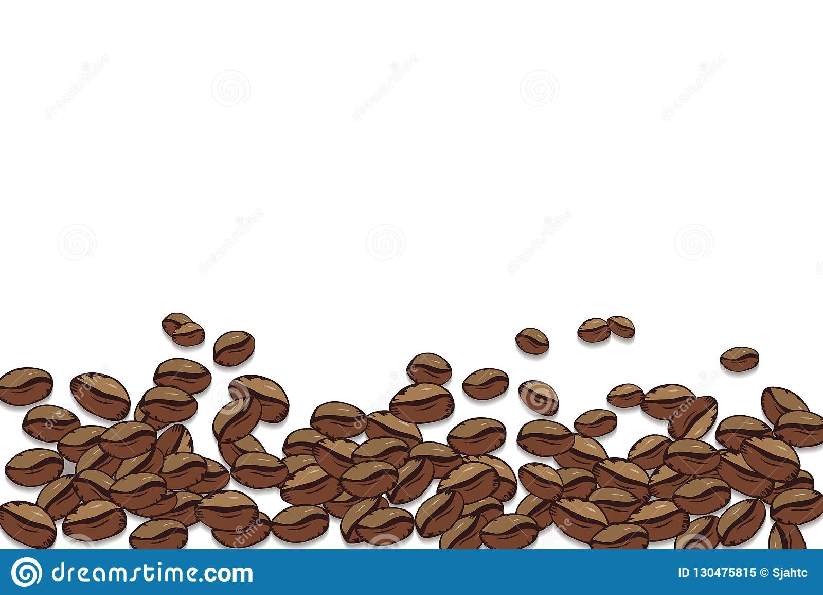 Priorità bassa del caffè di vettore Fondo quadrato decorativo con il posto per il vostro testo Chicchi di caffè della pagina su u
