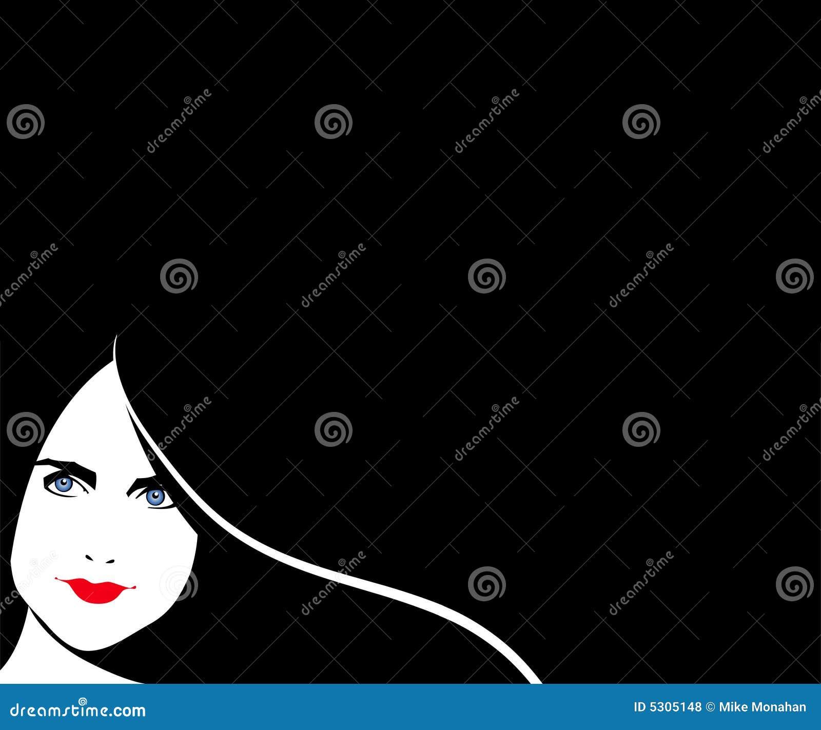 Download Priorità Bassa Della Donna Del Brunette Illustrazione Vettoriale - Illustrazione di background, haired: 5305148