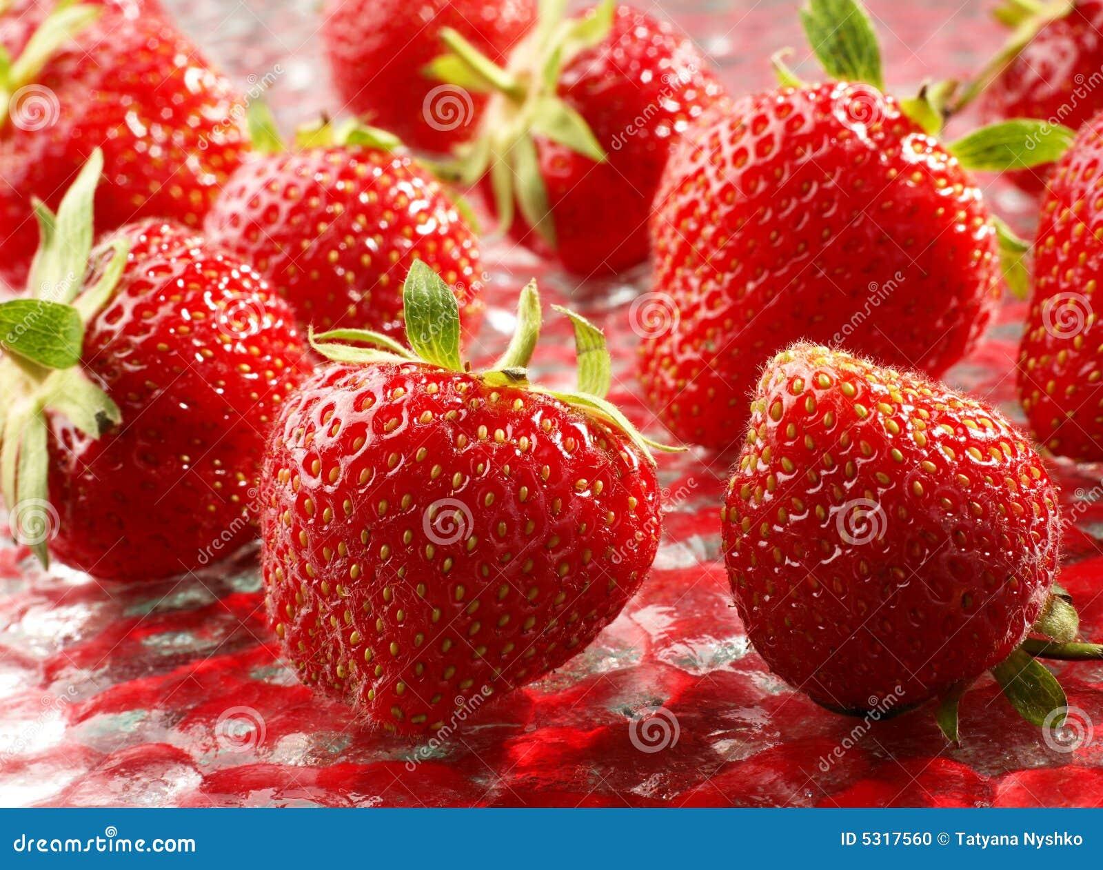 Download Priorità Bassa Della Fragola Fotografia Stock - Immagine di dolce, pianta: 5317560