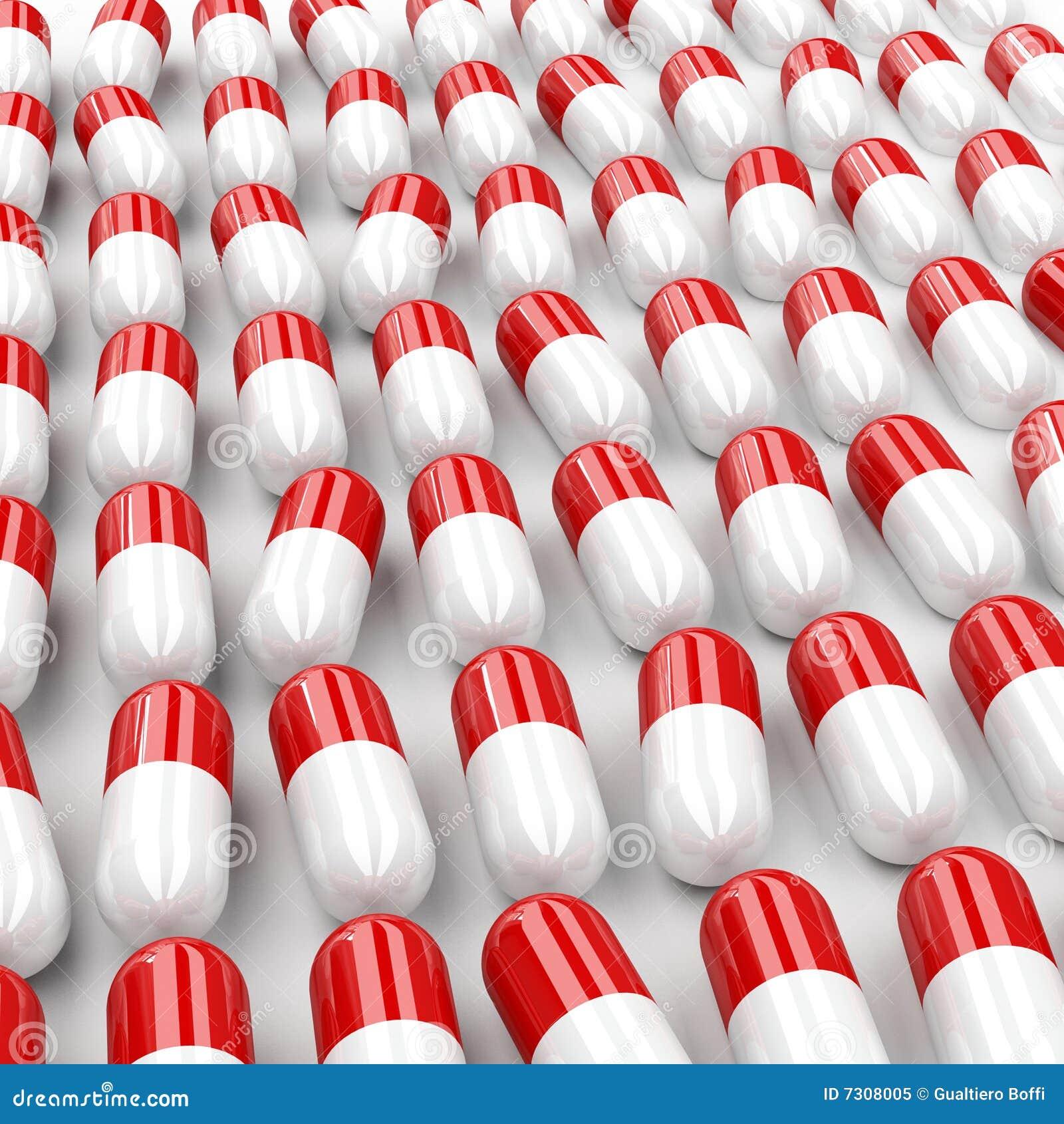 Priorità bassa delle pillole 3d