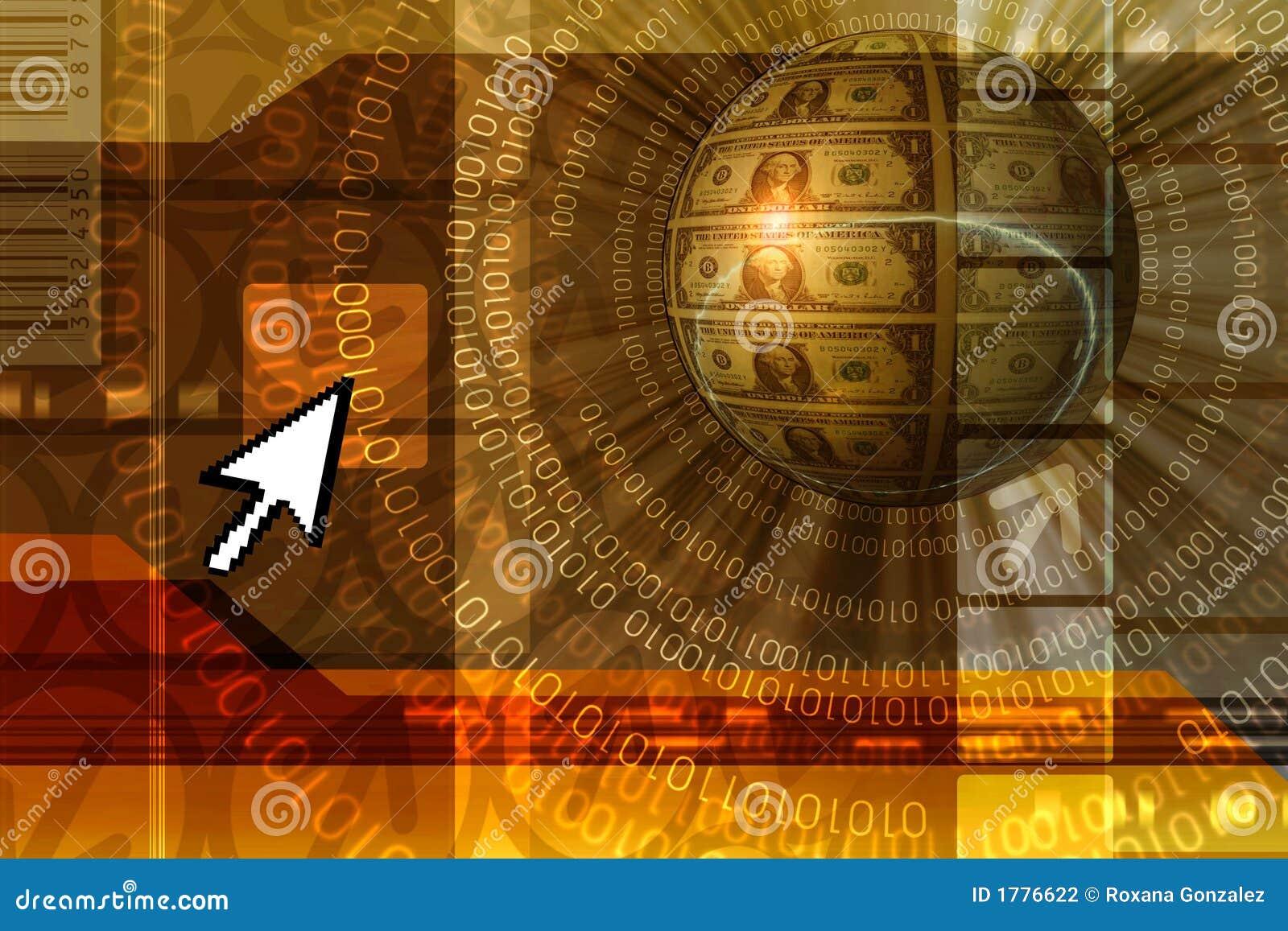 Priorità bassa di concetto di commercio elettronico - arancio