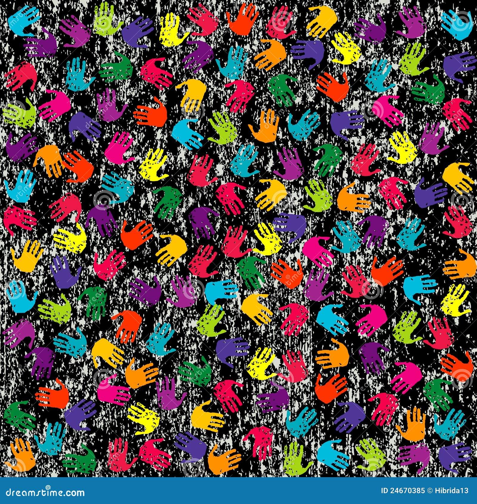 Priorit bassa di grunge con le mani colorate fotografia for Foto di ville colorate