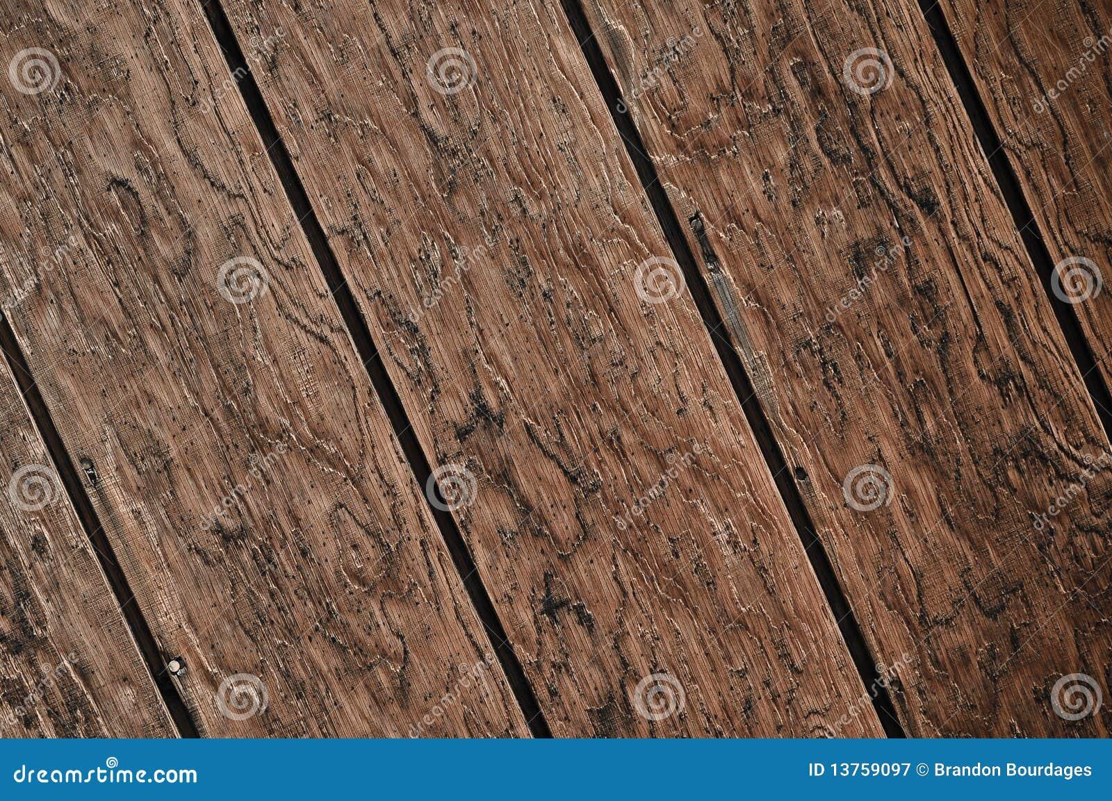 Priorità bassa di legno scura diagonale della plancia