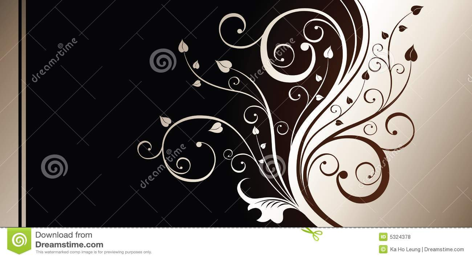 Download Priorità bassa floreale illustrazione di stock. Illustrazione di disegno - 5324378