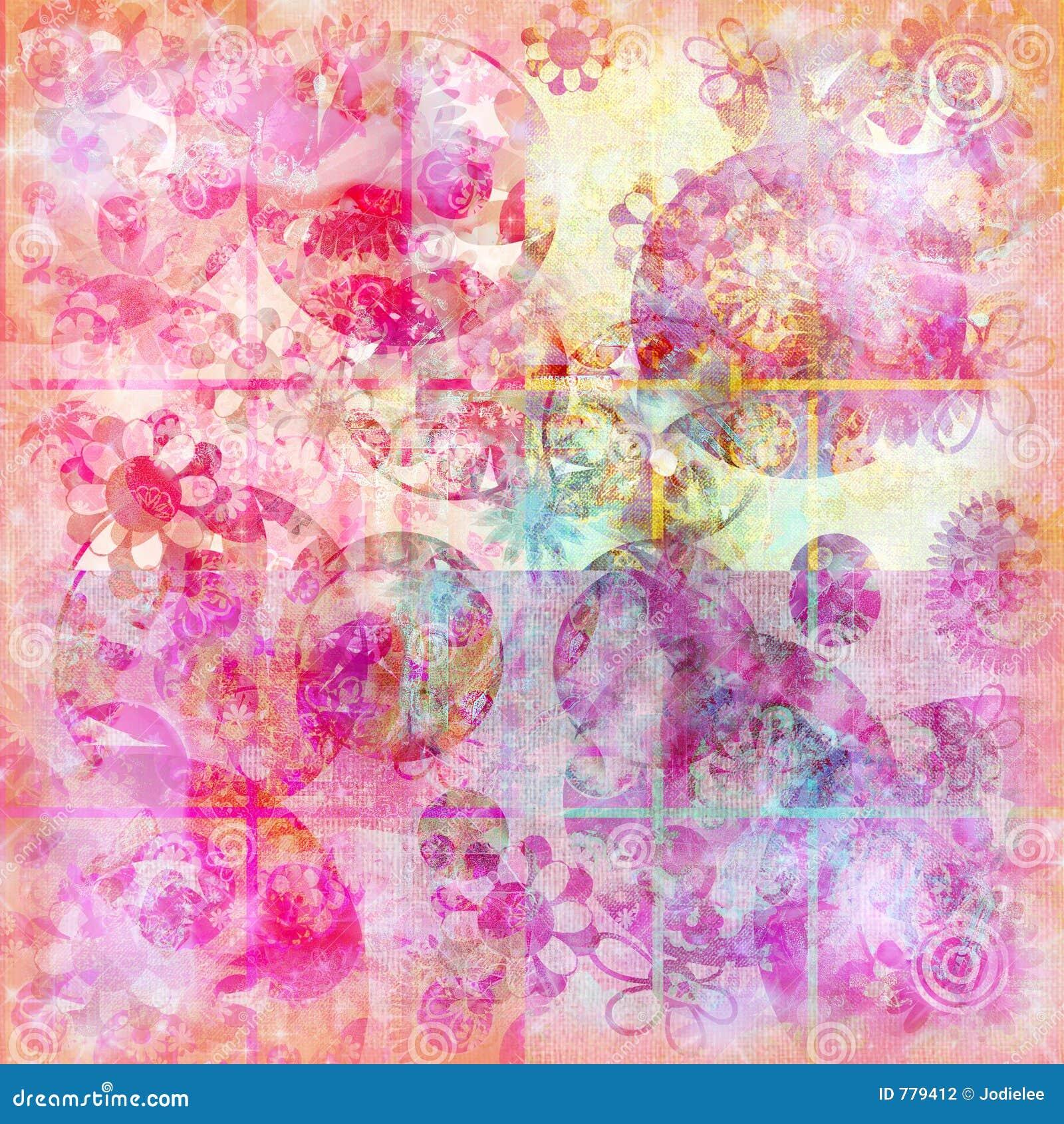 Priorità bassa floreale della scintilla dell acquerello di doodle