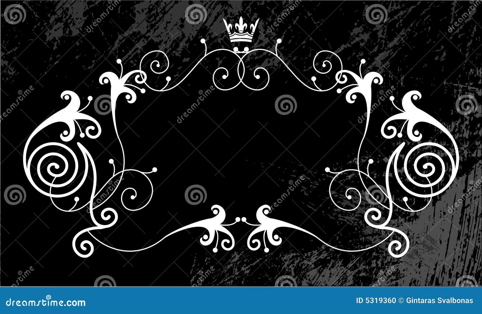 Download Priorità Bassa Grungy Del Contrassegno Illustrazione Vettoriale - Illustrazione di ornate, emblema: 5319360